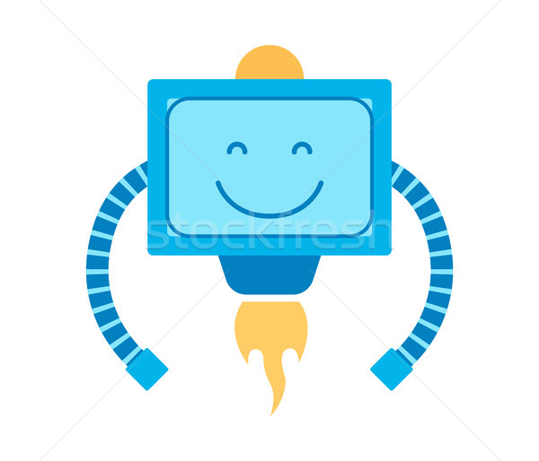 Mechanism with Smile Squared Vector Illustration Stock photo © robuart