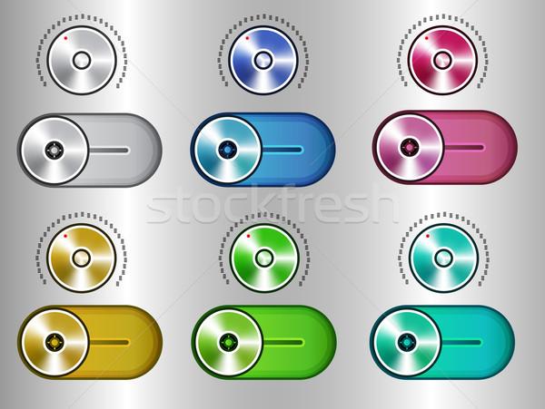 UI Kit Elements, Slider Toggle Set Stock photo © robuart