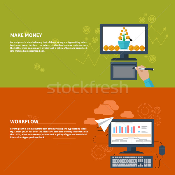 Geld workflow business groeiend Stockfoto © robuart