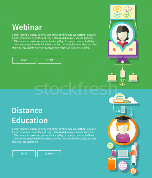 Webinar and Distance Education Stock photo © robuart