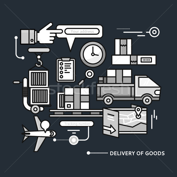 Delivery Service Aviation, Customs Stock photo © robuart