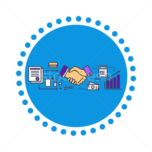 业务合作夥伴 商业照片和矢量图