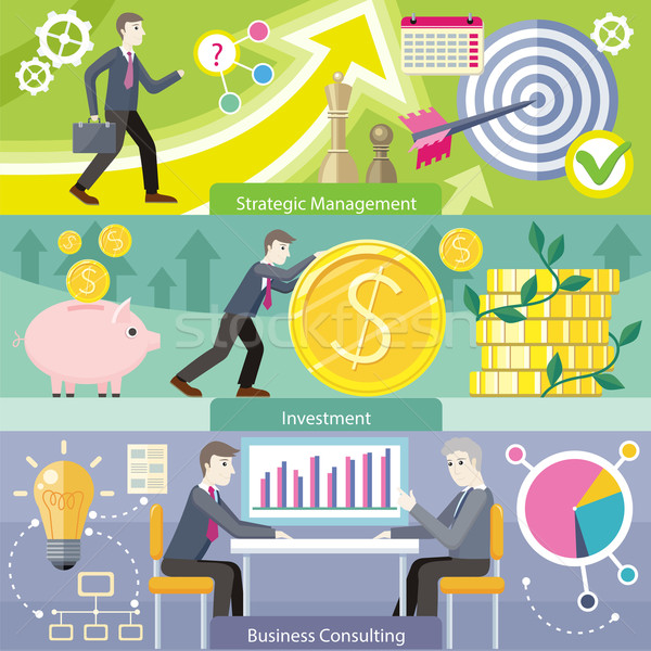 Stock photo: Business Consulting Investment Strategic Managment