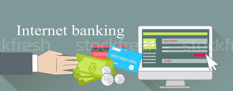 Internet Banking Money Credit Card Stock photo © robuart
