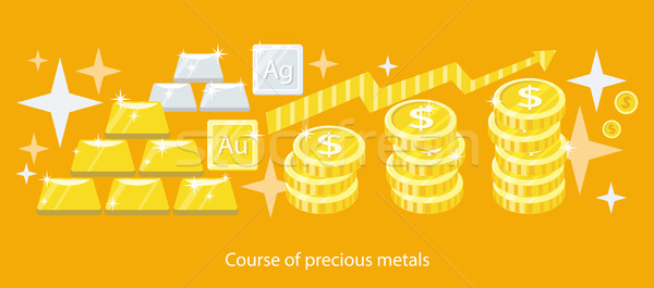 Course of Precious Metals Flat Design Stock photo © robuart