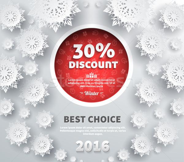 зима скидка Лучший выбор дизайна продажи Сток-фото © robuart
