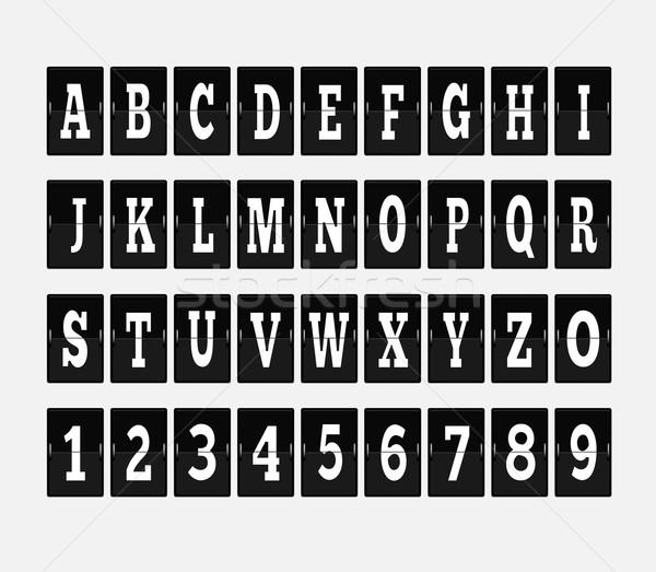 Scorebord alfabet ingesteld brief brieven doopvont Stockfoto © robuart