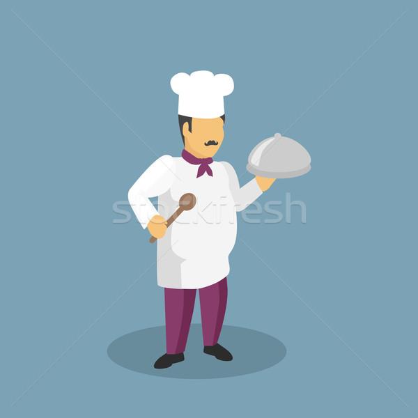 Profession personnage design Cook professionnels cuisine Photo stock © robuart