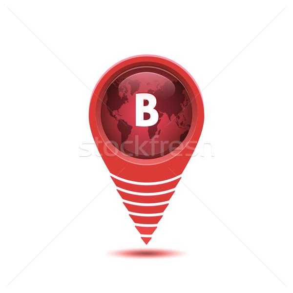 Zdjęcia stock: Pin · lokalizacja · Pokaż · projektu · odznakę