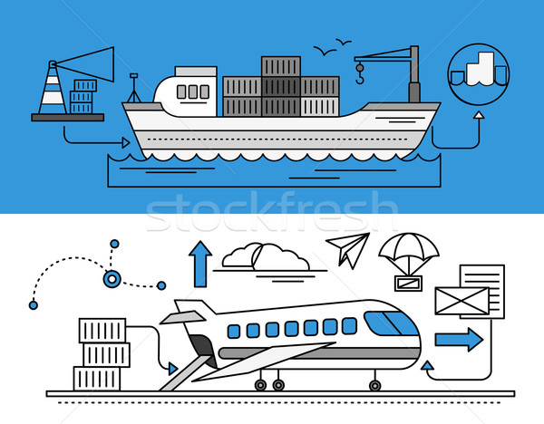 Freight Forwarding by Sea and Air Stock photo © robuart