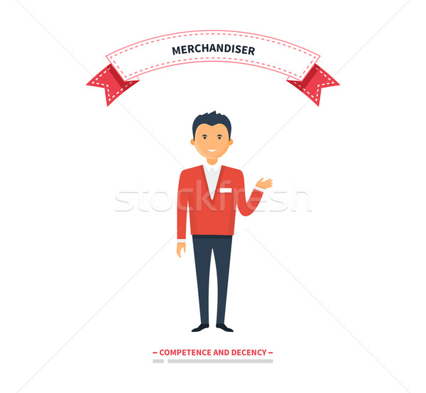 Merchandiser Man Competence and Decency Stock photo © robuart