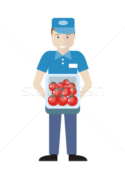 Merchandiser with Tomatoes in Track Stock photo © robuart