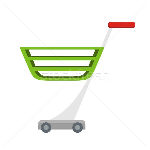 Bevásárlókocsi terv vektor stílus áruház felszerlés Stock fotó © robuart