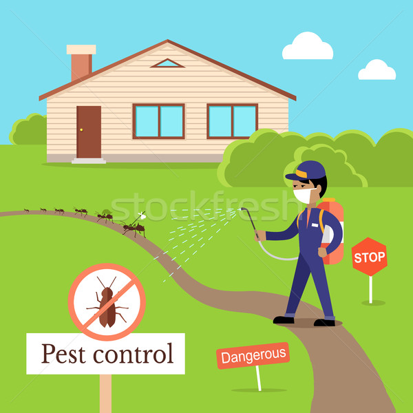 Pest Control Concept Vector In Flat Style Design Stock photo © robuart
