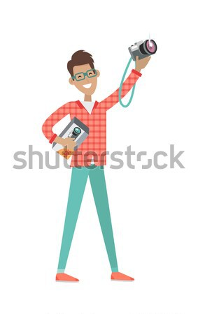 Stock photo: Sale in Electronics Store Flat Vector Concept