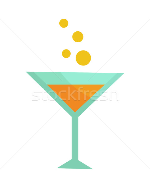 Glass with Champagne Isolated. Martini Cocktail Stock photo © robuart