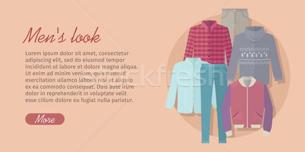 Bakmak web afiş kart moda elbise Stok fotoğraf © robuart
