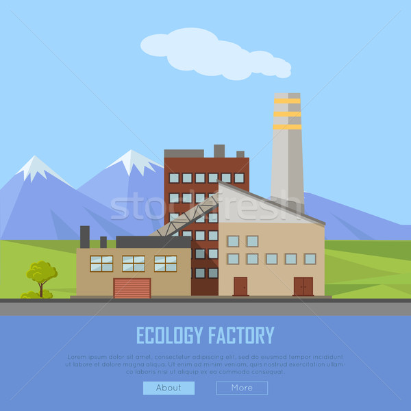 Ecology Factory Web Banner. Eco Manufacturing Stock photo © robuart