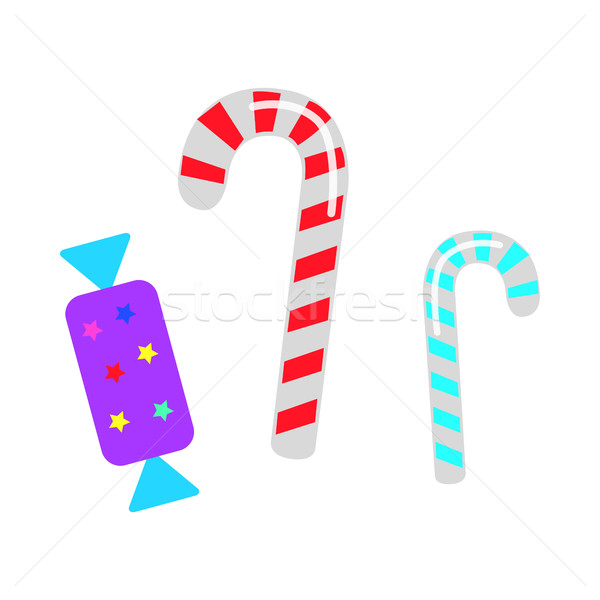 Christmas Candies. Sweet Lollipops and Bonbon Stock photo © robuart
