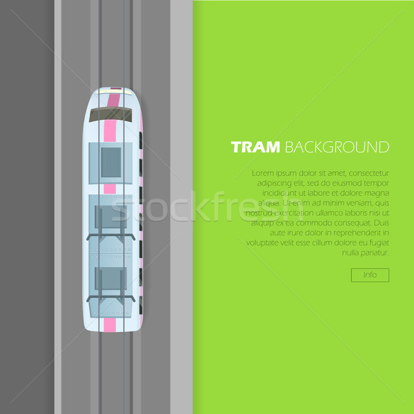 Tram Background Conceptual Flat Vector Web Banner Stock photo © robuart