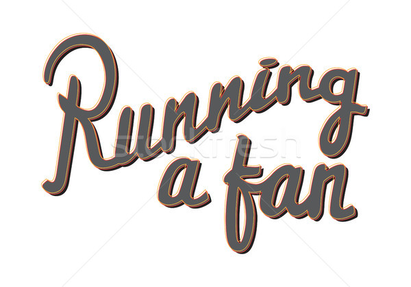Running a Fan. Running Marathon Badge. Lifestyle. Stock photo © robuart