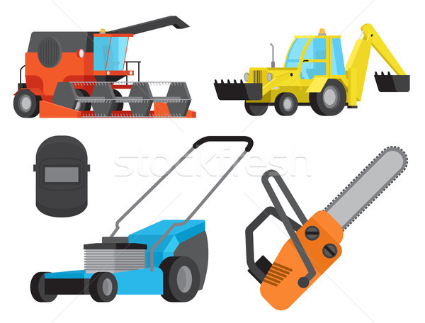 Concept of Operative Equipment and Heavy Transport Stock photo © robuart