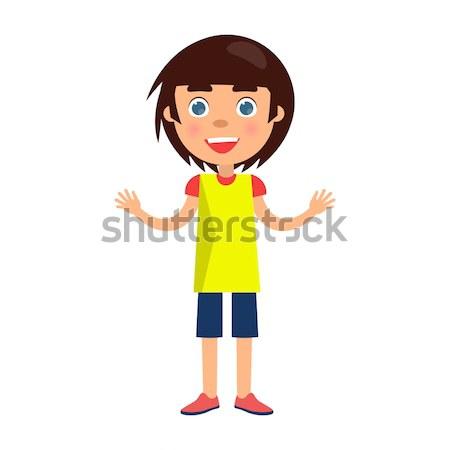 Garçon yeux bleus heureux jour souriant Photo stock © robuart