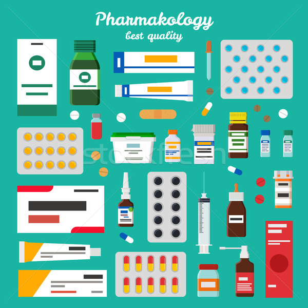 Pharmacology Best Quality Vector Illustration Stock photo © robuart