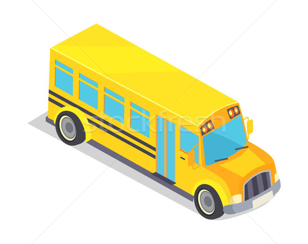 Yellow School Bus Vector Illustration Isolated Stock photo © robuart