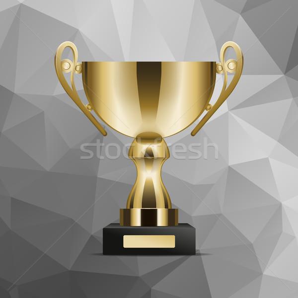 Dorado trofeo taza realista vector Foto stock © robuart