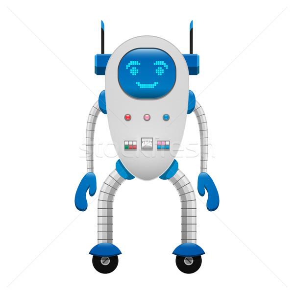 Electronic Robot on Wheels Isolated Illustration Stock photo © robuart