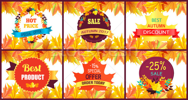 Autumn Sale Special Offer Vector Illustration Stock photo © robuart