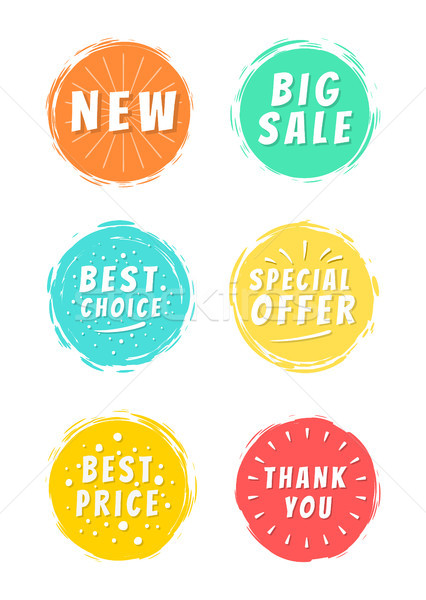 New Big Sale Best Price Thank You Text Paint Spot Stock photo © robuart