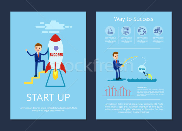 Start Up and Way to Success Vector Illustration Stock photo © robuart