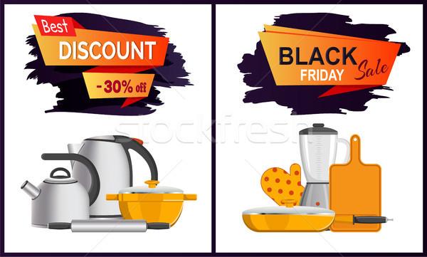 Black Friday Discount Advert Vector Illustration Stock photo © robuart