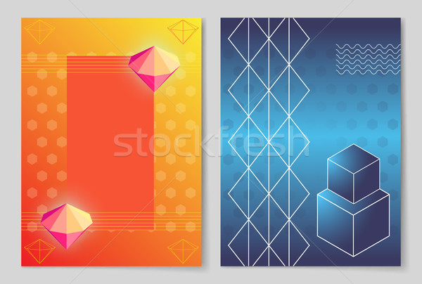 Bright Luminous Diamonds and Geometric Shapes Stock photo © robuart