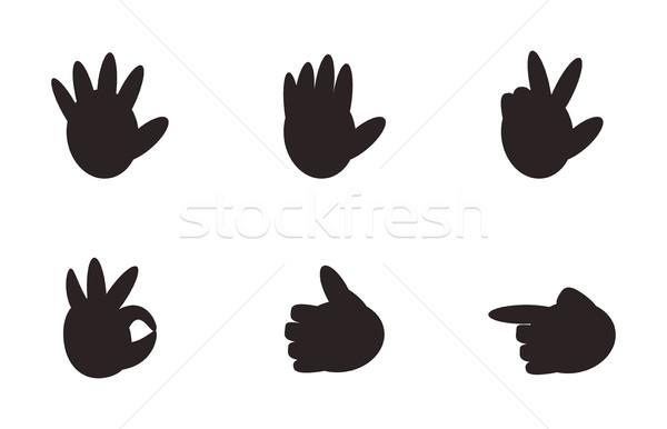 Set of Hand Gesture Signs Nonverbal Symbols Vector Stock photo © robuart