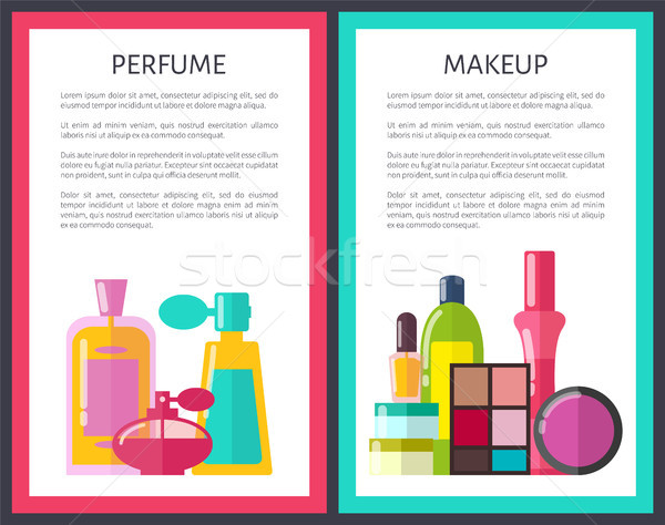 Pair of Makeup and Perfume Vector Illustration Stock photo © robuart