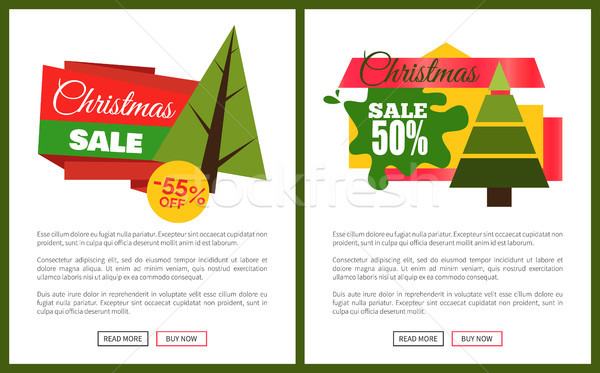 Christmas Sale Off Card Vector Illustration Stock photo © robuart