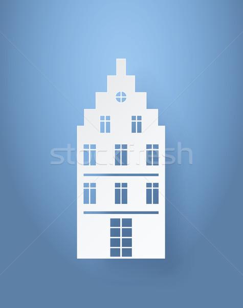 Multi Storey House Made of White Paper Isolated Stock photo © robuart