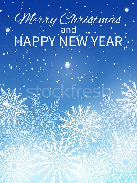 Merry Christmas Happy New Year Vector Illustration Stock photo © robuart
