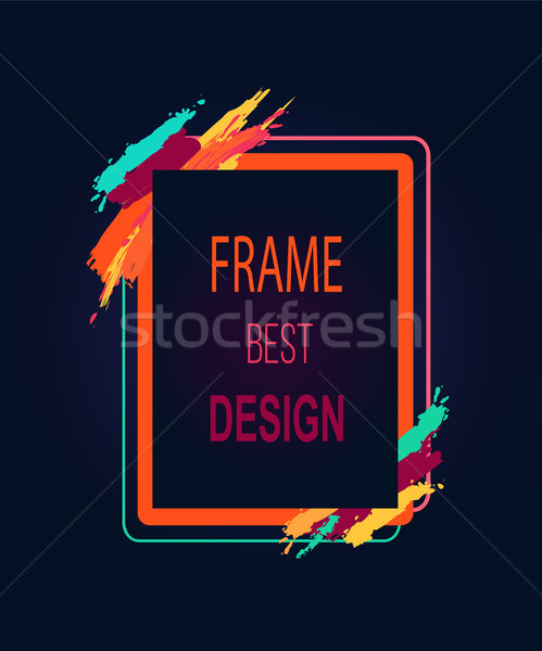 Frame Best Design Rectangular Bright Border Icon Stock photo © robuart