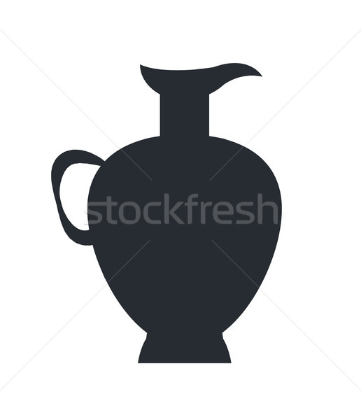 Closeup of Clay Jug Isolated Vector on White Stock photo © robuart