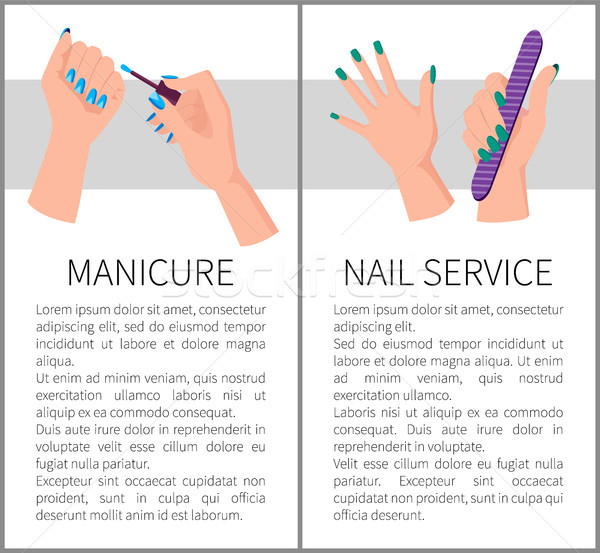 Two Manicure and Nail Services Colorful Banners Stock photo © robuart