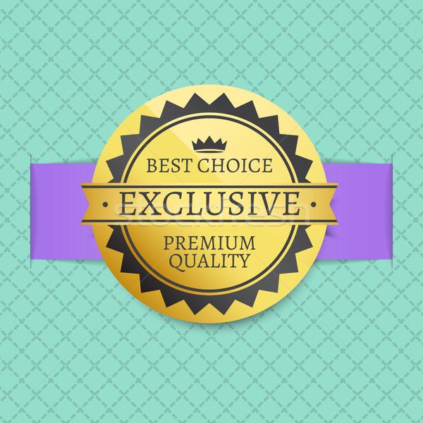 Exclusivo prima calidad dorado etiqueta Foto stock © robuart