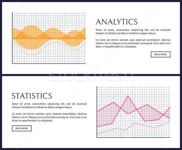 Analytics statistiek internet info ingesteld Stockfoto © robuart