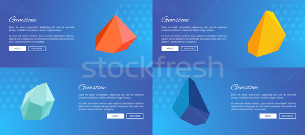 Gemstones Collection of Web Vector Illustration Stock photo © robuart