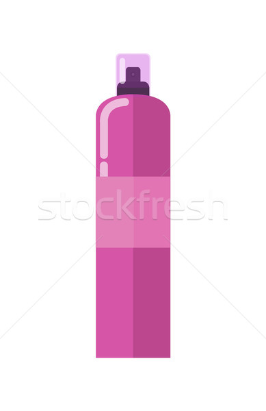 Spray aluminium bouteille affiche pourpre couleur Photo stock © robuart