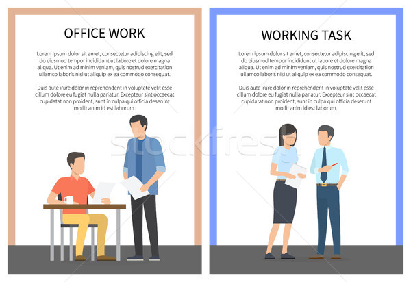 Office Work and Working Task Vector Illustration Stock photo © robuart
