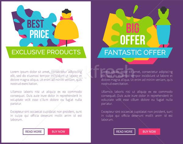Najlepszy ekskluzywny produktów duży fantastyczny oferta Zdjęcia stock © robuart